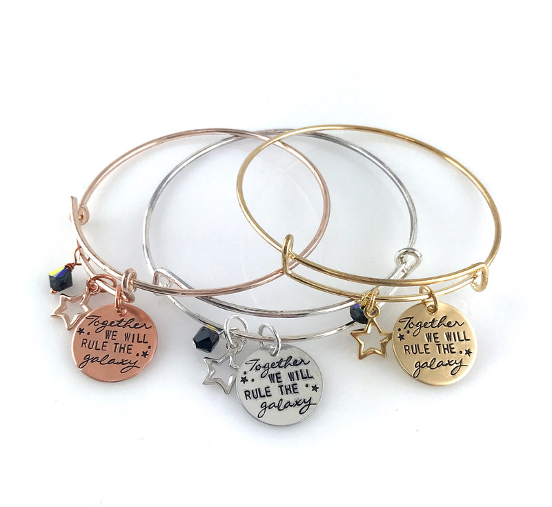 Together We Will Rule The Galaxy - Star Wars Adjustable Bangle Bracelet