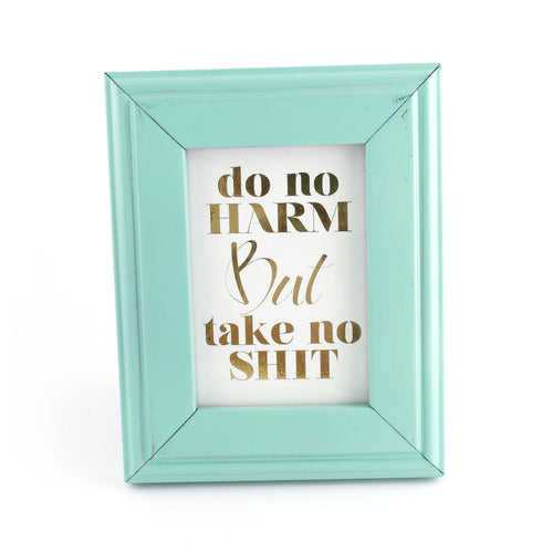 Do No Harm But Take No Shit - Framed Mini Print - Spiffing