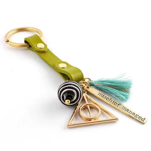 Mischief Managed Leather Key Chain - Spiffing