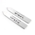 Custom Coordinates Collar Stays - Spiffing