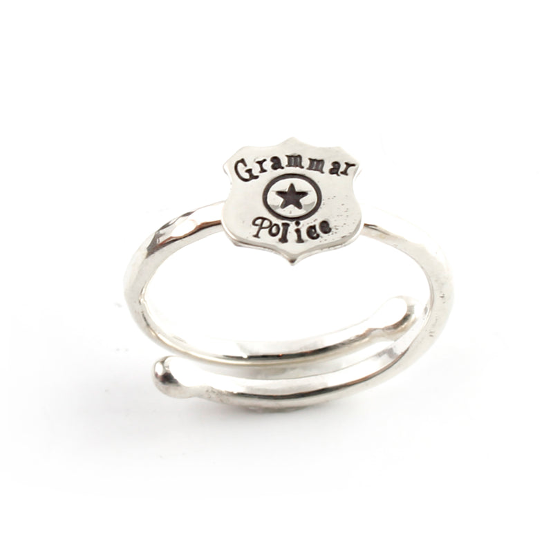 Grammar Police Adjustable Ring