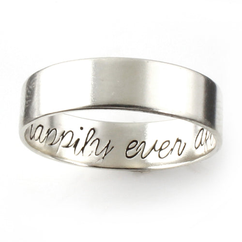 Secret Message Silver Ring