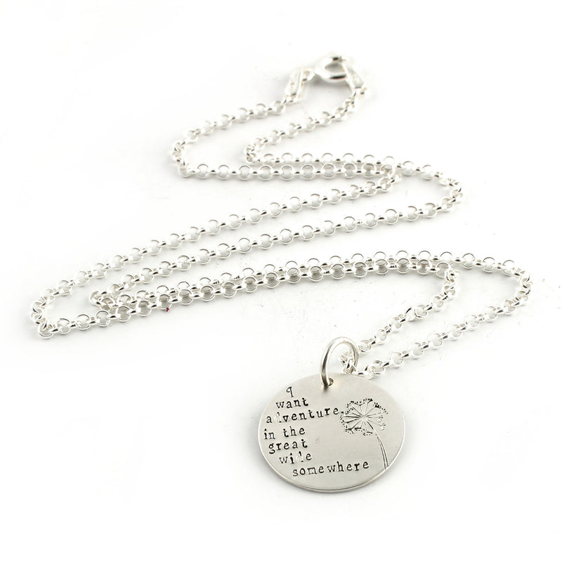 I Want Adventure in the Great Wide Somewhere - Necklace - Spiffing