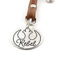 Rebel Leather Key Chain / Purse Charm - Spiffing