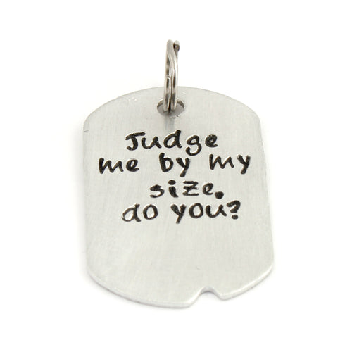 Star Wars Pet Collar Tag - Judge Me By My Size Do You?