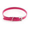 Fuchsia Leather Pet Collar