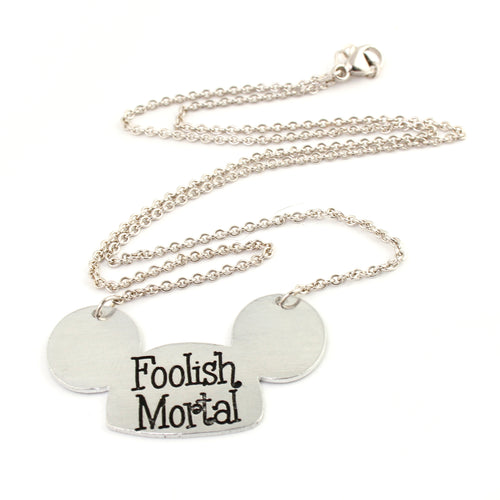 Foolish Mortal Mouse Ears Necklace - Haunted Mansion Jewelry