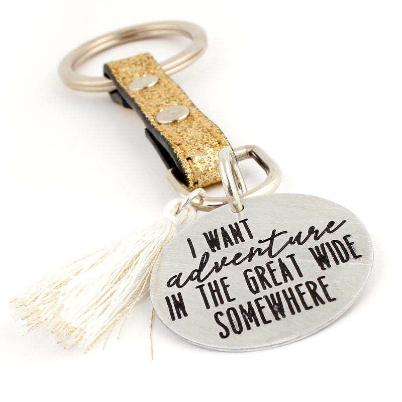 Beauty & The Beast Keychain - Adventure in the Great Wide Somewhere