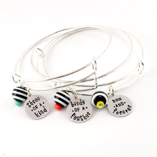 Nightmare Before Christmas Bangle Bracelets - Lock, Shock, & Barrel