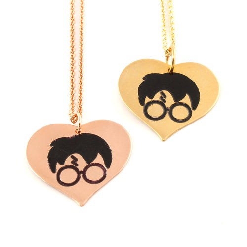 Heart the Boy Who Lived Necklace - Harry Potter Necklace
