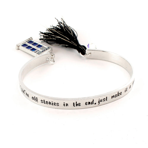 We're All Stories In The End - Tassel Cuff Bracelet