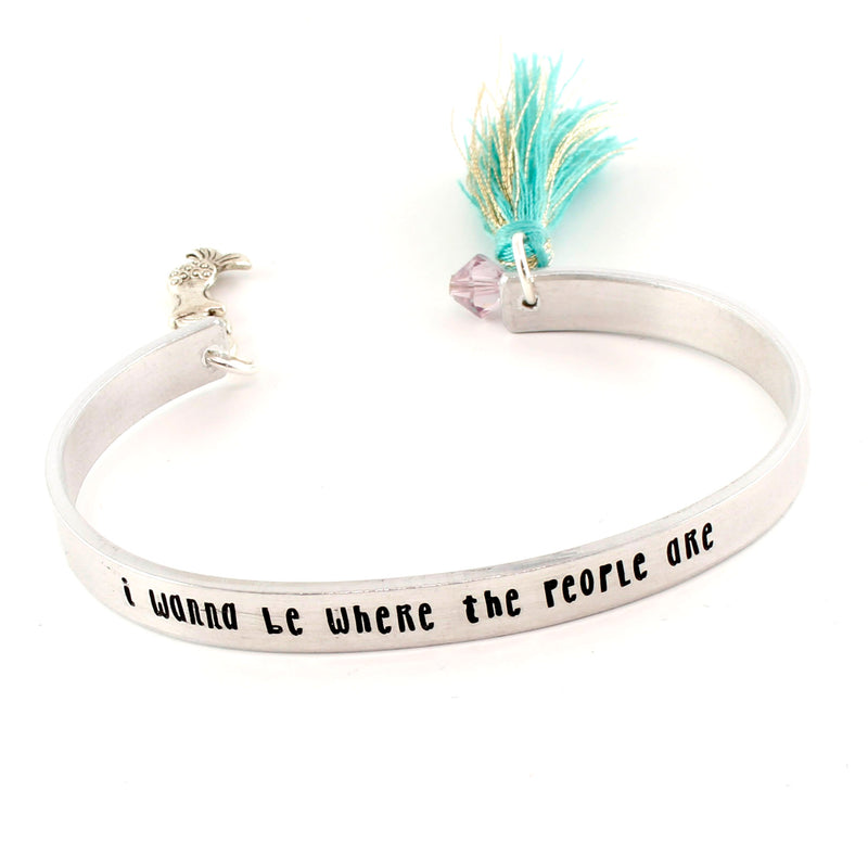 I Wanna Be Where The People Are - Little Mermaid Tassel Cuff Bracelet