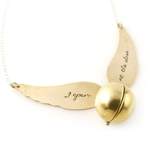 Golden Snitch Locket Necklace