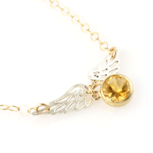 Delicate Golden Snitch Necklace