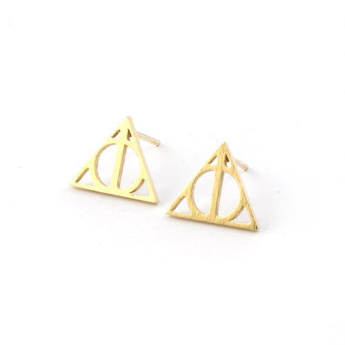 Deathly Hallows Stud Earrings - Spiffing
