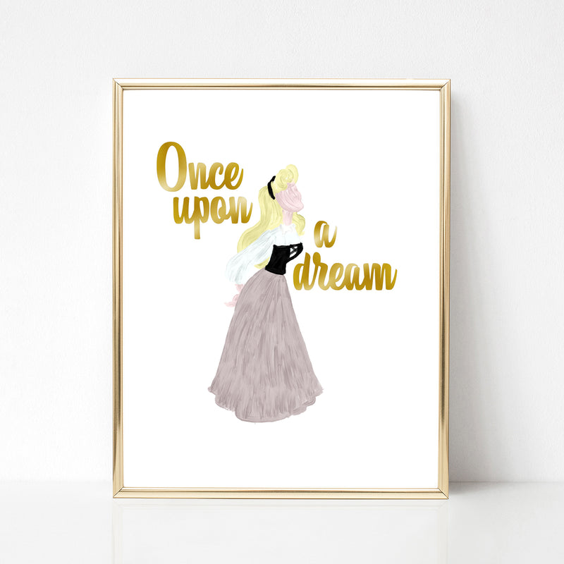 Sleeping Beauty Art Print - Once Upon a Dream