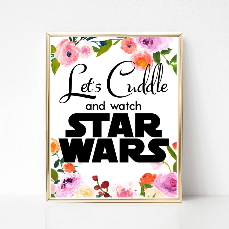 Cuddle and Watch Star Wars Floral Print - Spiffing