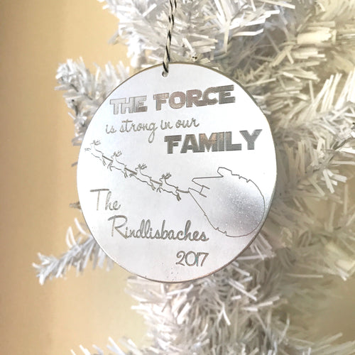 The Force Is Strong In Our Family - Personalized Star Wars Ornament