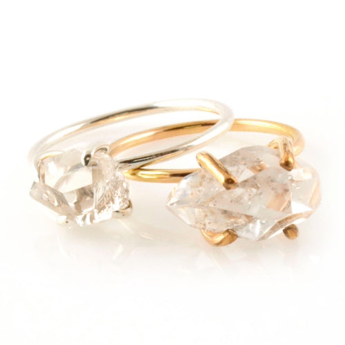 Herkimer Diamond Stacking Ring