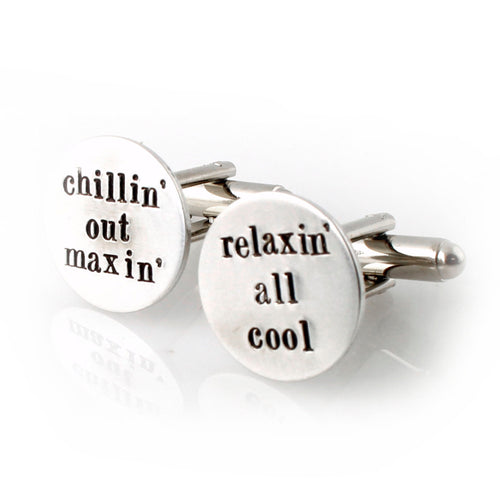 Your Words Here - Round Cufflinks - Spiffing