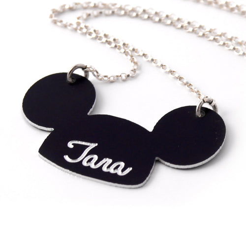 Personalized Mickey Ears Necklace - Spiffing