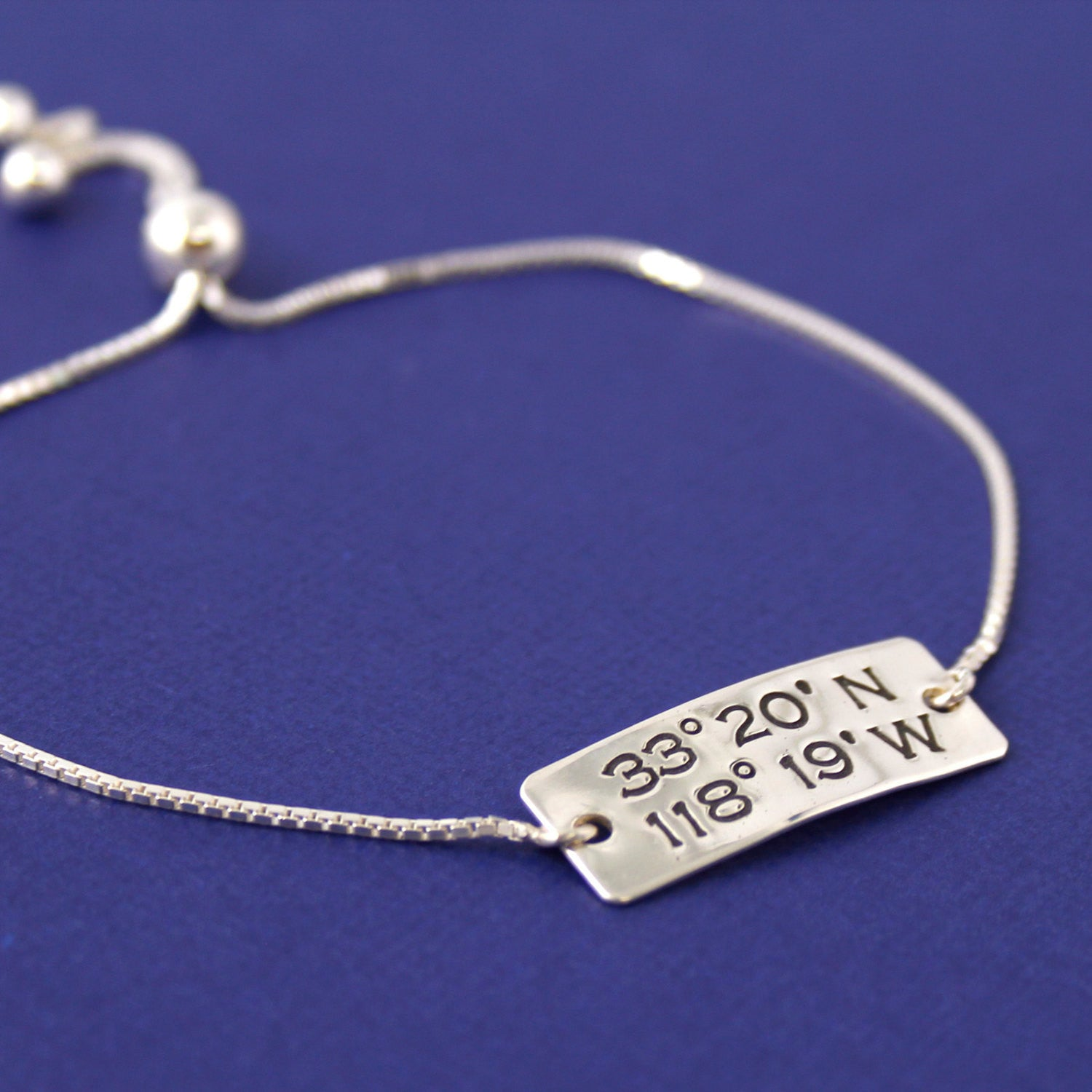 long bracelet coordinates pin lo engraved lat jewelry wichita ks