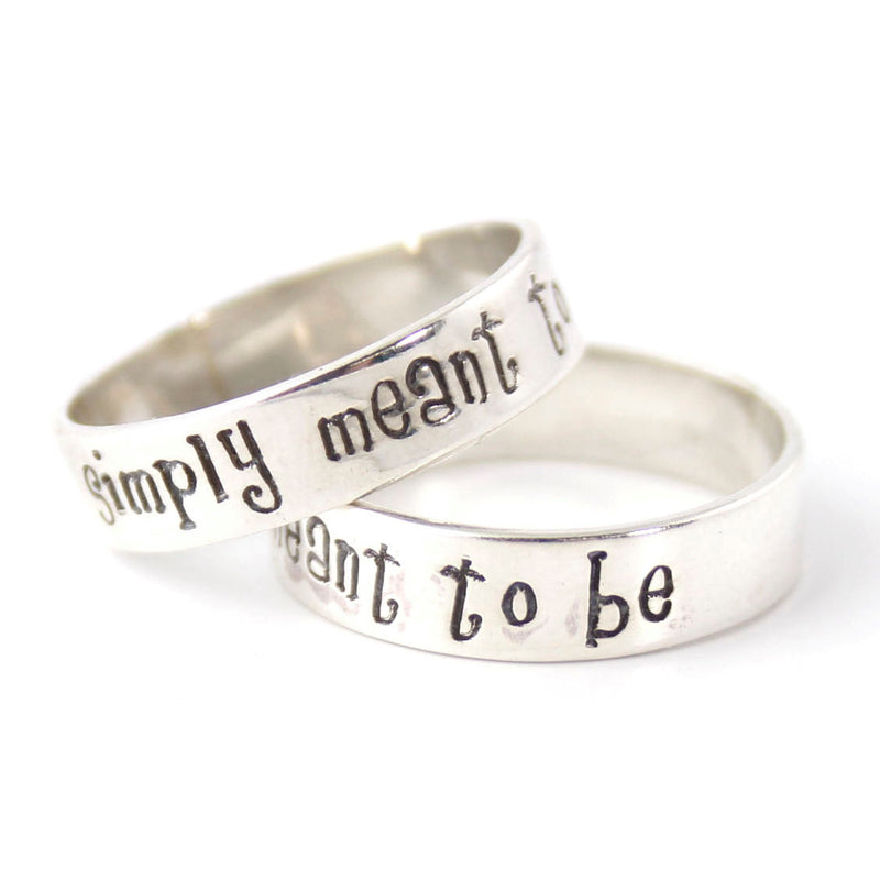 Nightmare Before Christmas Wedding Band Set - Spiffing