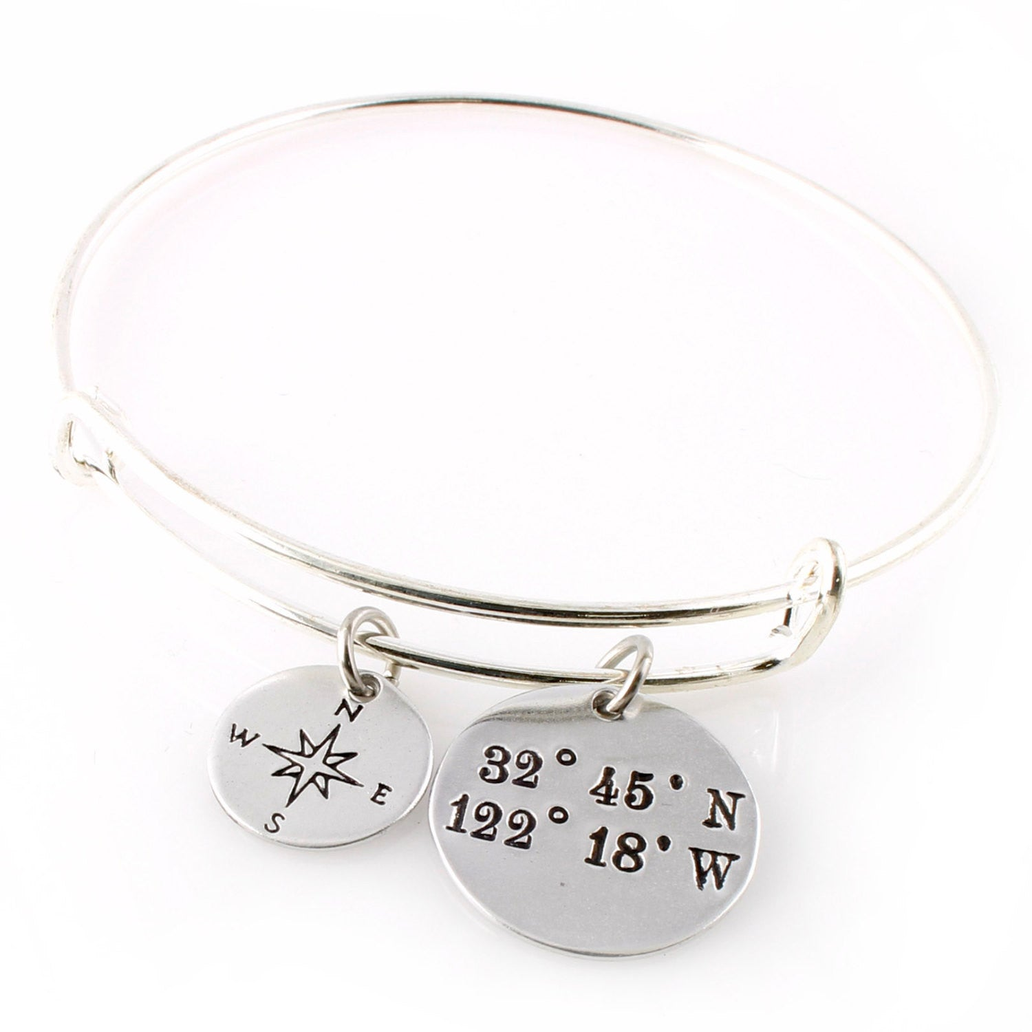 coordinates products bracelet set cuff lat long mg spiffing