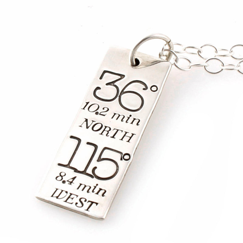 Typography Custom Coordinates Necklace - Spiffing