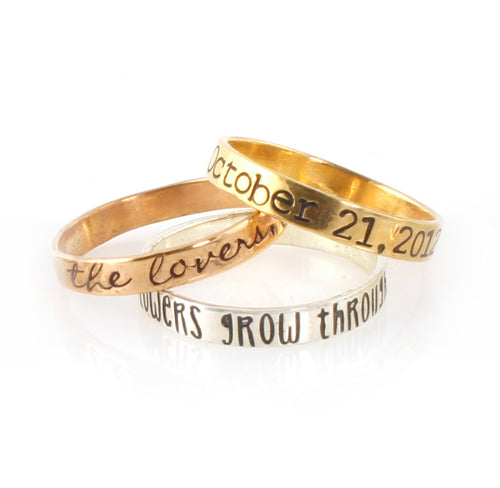 Your Words Here Stacking Ring