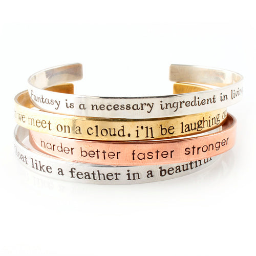 Your Words Here - Classic Cuff Bracelet - Spiffing
