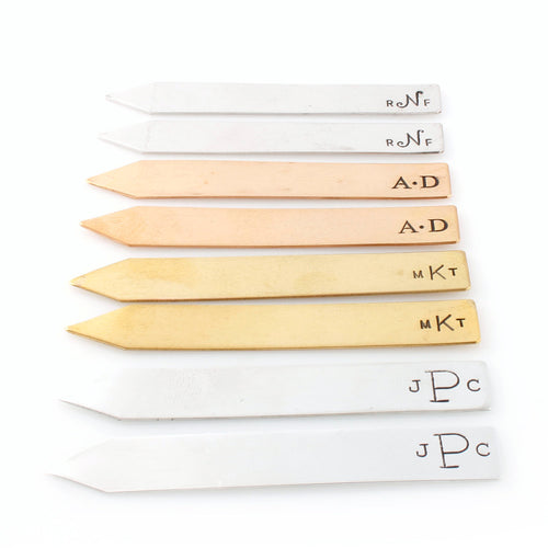 Monogram Collar Stays - Spiffing