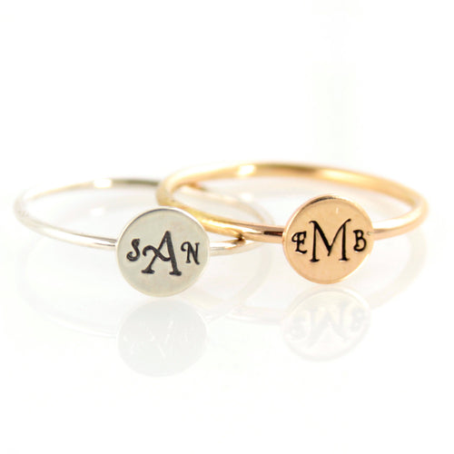 Monogram Stacking Ring - Spiffing