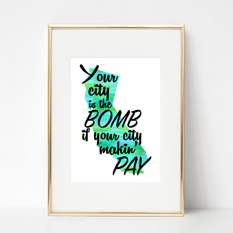 Your City is the Bomb Print - Spiffing