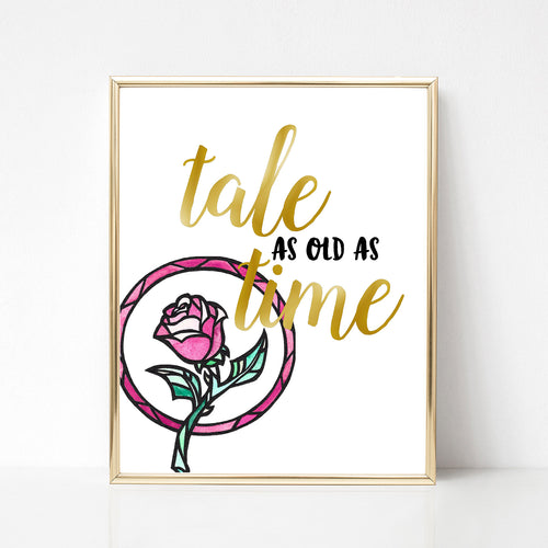 Tale as Old as Time Print - Spiffing