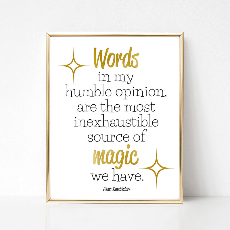 Dumbledore Print - Words Are Magic - Spiffing