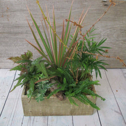 Burlington Florist - Burlington Flowers - Send Flowers - Rustic Sage Planter - Planter Arrangements