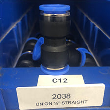 "1/2"" Union Straight Water Fitting - LaserLocker.com"