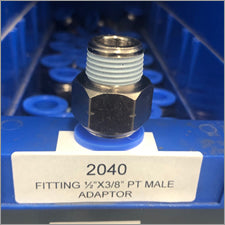 "1/2"" x 3/8"" PT Male Water Fitting - LaserLocker.com"