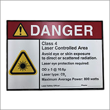Laser Safety Sign - CO2 / Class 4 - LaserLocker.com