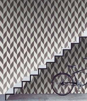Feather Chevron II - Wallpapers.com