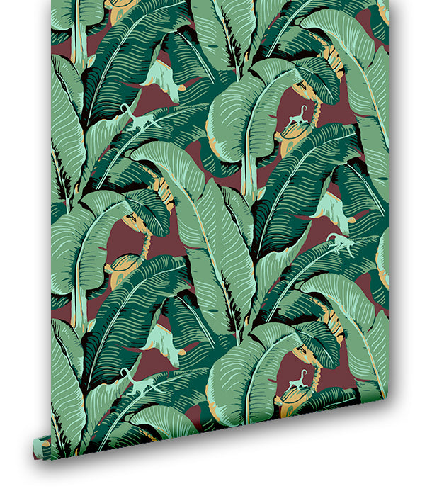 Curious Banana Leaf - Wallpapers.com