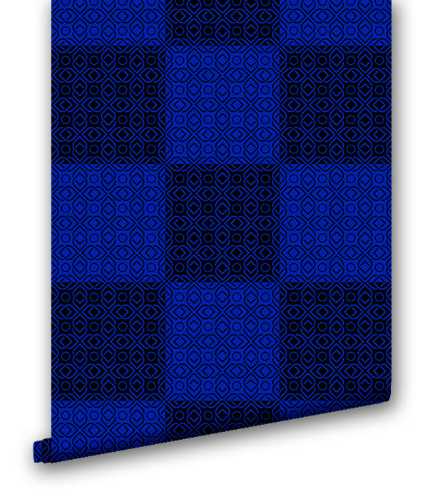 Plaid in Blue - Wallpapers.com