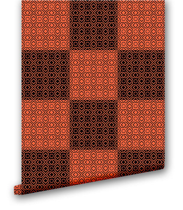 Plaid in Orange - Wallpapers.com