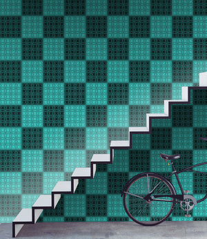 Plaid in Teal - Wallpapers.com