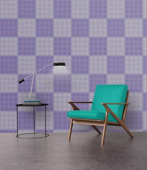 Plaid in Ultra Violet - Wallpapers.com