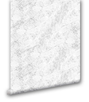Faux White Marble III - Wallpapers.com