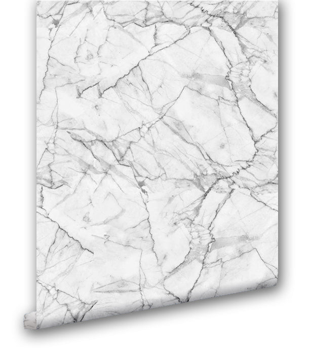 Faux White Marble II - Wallpapers.com