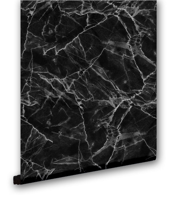Faux Black Marble II - Wallpapers.com