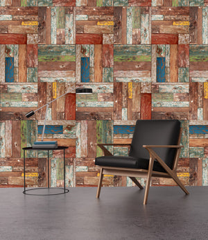 Vintage Wood Panels III - Wallpapers.com